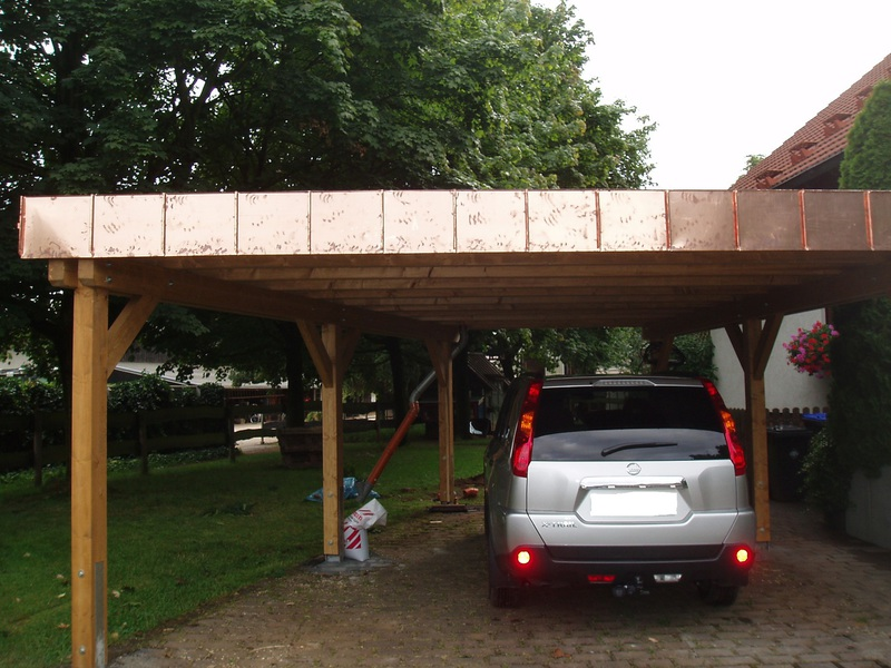 Garage mit carport flachdach  Zimmerei Apel - Carports